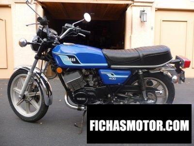 Ficha técnica Yamaha rd 400 c 1977