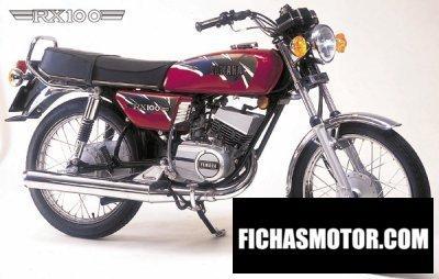 Imagen moto Yamaha rx 100 año 1990