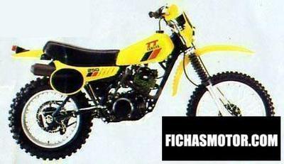 Ficha técnica Yamaha tt 250 1980