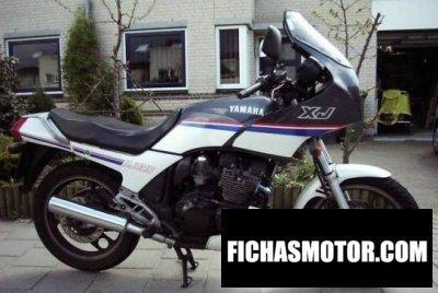 Ficha técnica Yamaha xj 600 1987