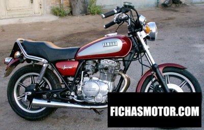 Obraz motocykla Yamaha xs 400 se rok 1982