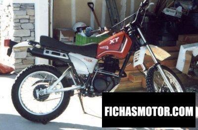 Imagen moto Yamaha xt 250 año 1982