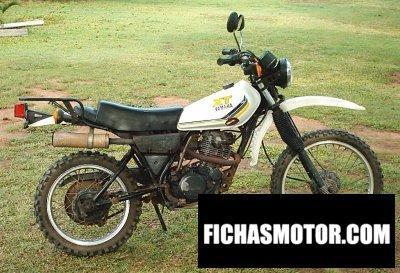 Ficha técnica Yamaha xt 250 1985