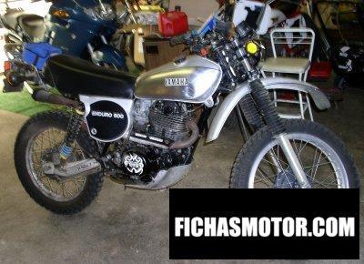 Imagen moto Yamaha xt 500 año 1978