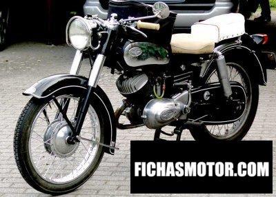 Imagen moto Zündapp db 255 elastic 250 año 1954